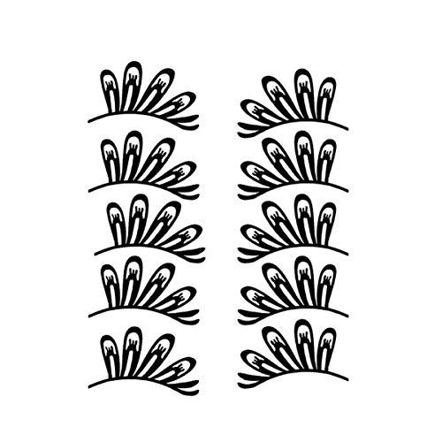 Minkissy 5 paires de faux cils cils noirs en papier pour fournitures de costume de mascarade vénitienne style 3