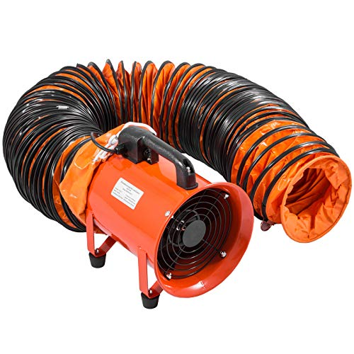 Mophorn Ventilador Industrial Extractor de Aire de Ventilador Industrial de 200 mm con Conducto de PVC 10M