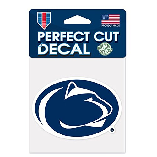 NCAA Penn State University 77233011 Perfect Cut Color Decal, 4  x 4 , Black