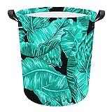Aqua Bohio - Cesta de lavandería (tela Oxford, 42 x 44 cm), color negro