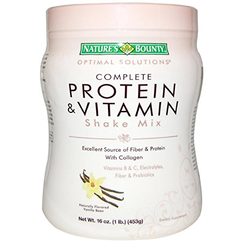 Nature's Bounty Optimal Solutions Complete Protein & Vitamin Shake Mix 16oz