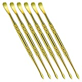 6 Pieces Wax Carving Tool Wax Tool Carving Tool Stainless Steel Sculpting Tool Spoon 4.75 Inch (Gold)