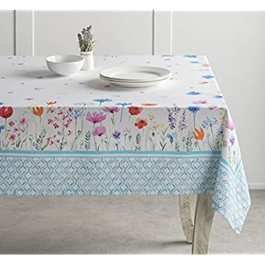 Maison d' Hermine Flower in the field 100% Cotton Tablecloth 54 Inch by 72 Inch