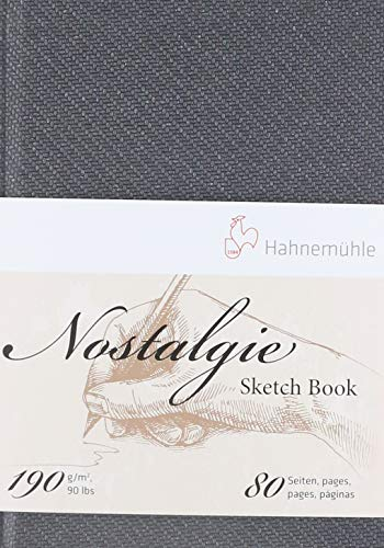 Hahnemuhle Nostalgie Sketch Book Portrait A6 (5.8X4.1 inches) 190gsm 40 sheets/80 Pages