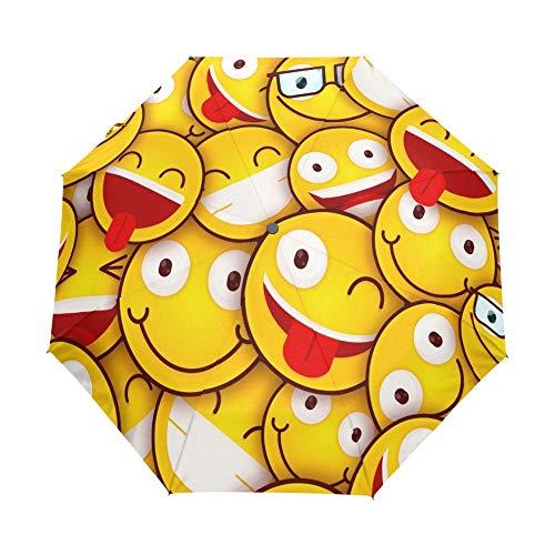 YOUZHA Regenschirm 2019 Süße Emoji Taschenschirm 8 Rippen Regenschirm Winddicht automatische und Nicht automatische Regenschirme für Kinder-in-Regenschirme von Home & Garden, Nicht automatisch