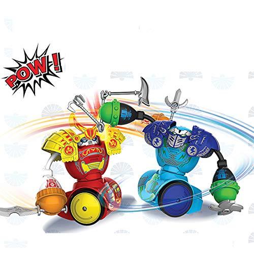 Robot Toys, Control Remoto Boxing Robot Fighting Robot, Robot Kombat, Paquete Doble, Batalla Multijugador Adecuado Para Niños y Niñas, Navidad, Regalos de Cumpleaños (Actualización De Guerrero)