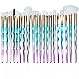 SANTOO Lot de 20 Professional Pinceaux Maquillage, Pinceaux de Maquillage Synthétiques de Qualité pour Visage, Ombre à Paupières, Blush, Poudre Libre, Sourcils