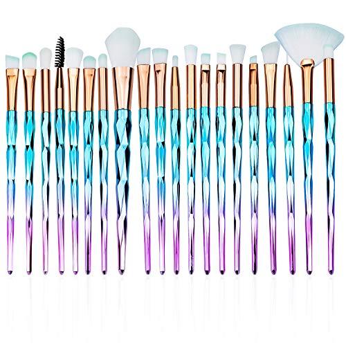 SANTOO 20 Piezas Pinceles Maquillaje, Set de Brochas de Maquillaje Profesional Para...