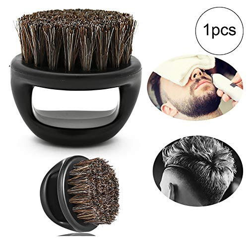 NiceButy 1PC Männer Rasierpinsel Kunststoff tragbare Haircut Bart-Bürsten-Salon Gesichtsreinigung...