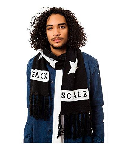 Black Scale Mens The Hide & Seek Scarf, Black, Long (60 in. And Up)