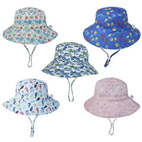 YOYOHO Bebé Niños Gorra para el Sol Dibujos Animados Lindo Verano Playa Floppy Bucket Hat - 3# S