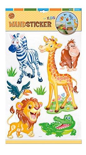 Adhesivos para pared, diseño de animales salvajes