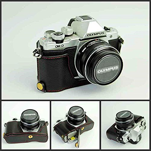 Funda para cámara E-M10 Mark II, Zakao de piel auténtica, apertura ...