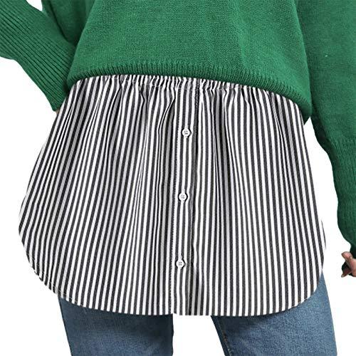 ZhaZhaMeng Parte superior falsa para mujer y niña, con dobladillo de falda, una versión de extensores de camisa inferior de barrido de la mitad
