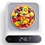 Bilancia da Cucina, VOLUEX Bilancia Cucina Digitale Precisione Portatile con LED Display, Funzione Tare, Funzione Letture della Holding, 5000g/0.5g, Pesa in Grammi e Once