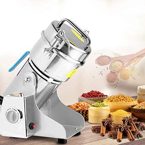 HUKOER Máquina Trituradora Eléctrica con Ultra-Alta Velocidad, Molinillo Inteligente de Hierbas, Especias, Alimento seco, Cereales, Polvo de Perla 250g