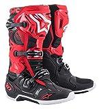 Alpinestars Tech 10 - Botas de motocross, color rojo y negro, 8
