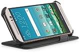 StilGut® UltraSlim Case V2, Funda con función de Soporte- Presentación für HTC One M9, Negro