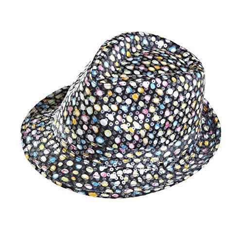 Widmann 0180 M ? getupfter Fedora Chapeau à Paillettes, Taille Unique, Multicolore