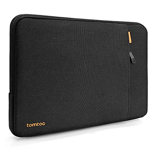 tomtoc Recycled Laptop Sleeve for 13-inch MacBook Air M1/A2337 A2179 2018-2021, MacBook Pro M1/A2338 A2251 A2289 2016-2021, 12.9 iPad Pro 3rd/4th/5th Gen, 360 Protective Laptop Accessory Bag, Black
