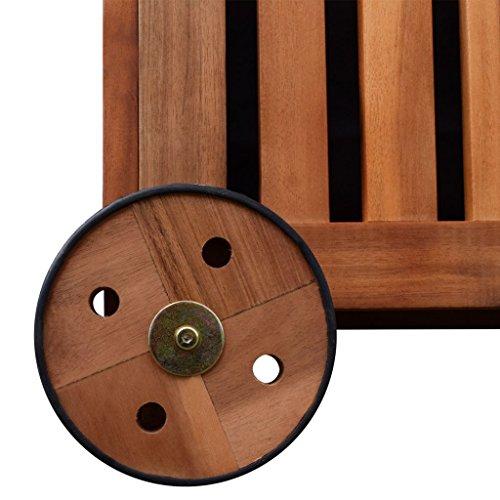 Festnight Auflagenbox Holz Gartenbox Outdoor Aufbewahrungsbox 118 x 52 x 58 cm für Garten Patio oder Terrasse - 5