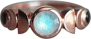 lEIsr00y Lady Men's RingVintage Total Eclipse of Moon Finger Women Birthday Gift Party Jewelry for Friendship,Love,Affection- Rose Gold US 9