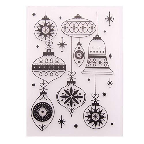 Blumen Baum Buchstaben Laterne Karte Kunststoff Prägeschablone für Scrapbooking Kartenherstellung Weihnachten Prägeschablone 127*178mm(5*7in) EM020