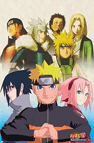 Trends International Naruto - Key Art Wall Poster, 22.375' x 34', Unframed Version