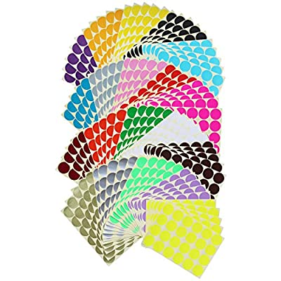 2400 Count Round Dot Stickers Color Coding Labe...