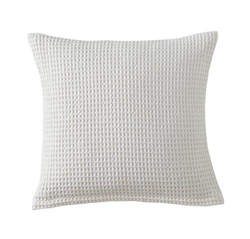 Blanc des Vosges Electre Housse et Coussin Coton Nougat 45 x 45 cm