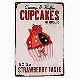 Mr.sign Cupcakes Blechschilder Vintage Metall Poster