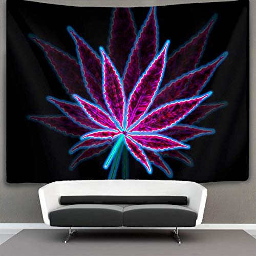 YongColer Tapestry Wall Hanging Trippy Hippie Psychedelic Leaf Purple Wall Tapestry with Art Nature Home Decorations for Living Room Bedroom Dorm Decor 30x40 inches, Poster Size