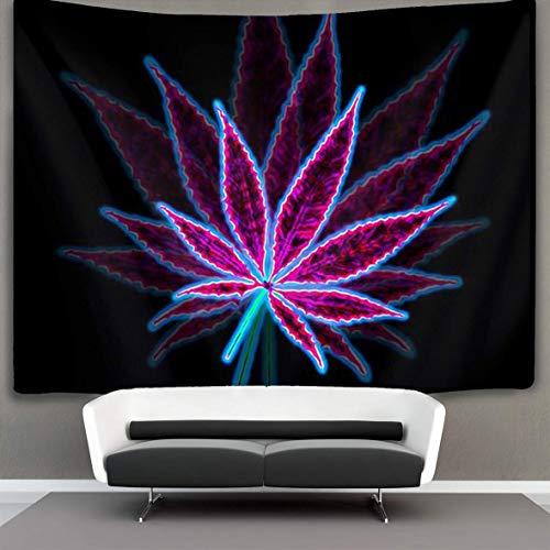 KHKJ Hierba Hoja púrpura Colgante de Pared Arte Natural decoración del hogar hogar Tapiz Artista decoración del hogar Accesorios A1 200x180cm