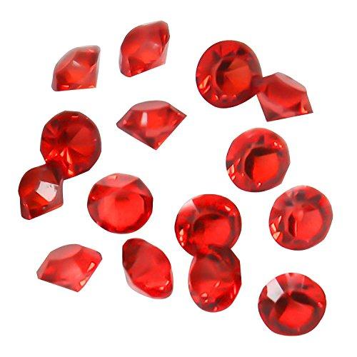TOAOB 5000 Pièces 3mm Rouge Diamant Scattering Diamants Cristaux Déco Pierres De Mariage Cristal Table Confettis Table Décoration