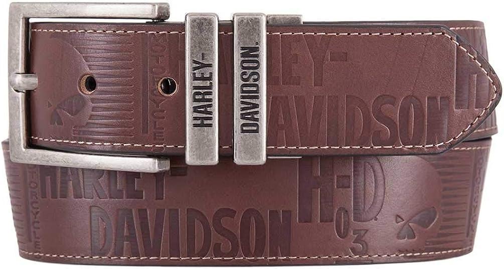 Harley-Davidson Men's U-Turn Reversible Genuine Leather Belt HDMBT11542