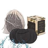 Lyihlou Abschminkpads waschbar Gesichtsreinigungspads wiederverwendbar 8.5CM Make Up Entferner Pads mit Wäschebeutel aus 100% Baumwolle- 12pcs