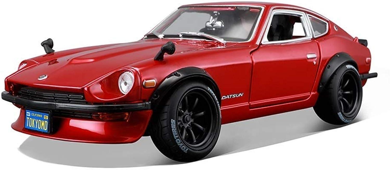 KKD Scale-Modellfahrzeuge 1 18 simulation diecast metall zurückziehen nissan 240z modell legierung auto modell kid spielzeug dekoration geschenk Mini Fahrzeuge