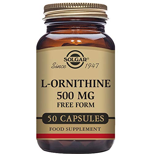Solgar L-Ornitina Cápsulas vegetales de 500 mg - Envase de 50
