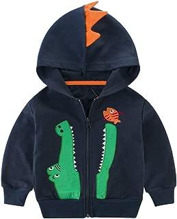 Boy Zip Up Hoodie Dinosaur Toddler Boy Long Sleeve Jacket Crocodile, 2T-7T