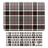 Carcasa rígida de plástico para MacBook New Pro 13 Touch y funda para teclado compatible con MacBook New Pro 13 Touch, gris, rojo y negro