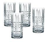 Spiegelau & Nachtmann, 9-teiliges Longdrink-Set, 4x Longdrink-Gläser (445 ml), 4x Glastrinkhalme, 1x Reinigungsbürste, Tastes Good, 103144
