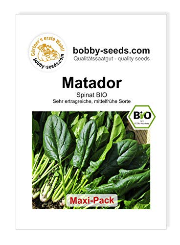 Bobby-Seeds BIO-Spinatsamen Matador Maxipack