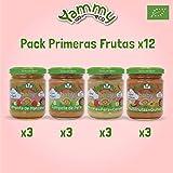 Yammy Primeras Frutas - Pack de 12 Potitos Ecológicos para Bebés, 2340 g