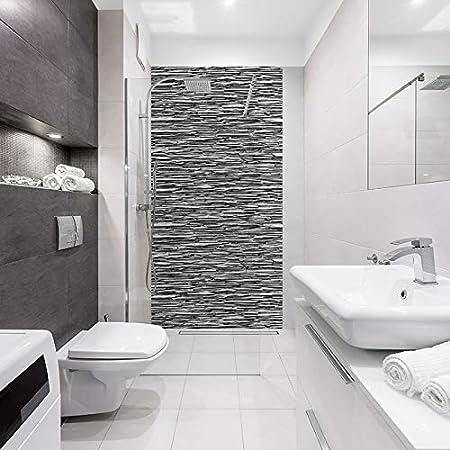 Panneau De Douche Decoratif Industriel 100x200cm Revetement Mural Salle De Bain Id Panneaux Parement Ardoise Amazon Fr Bricolage
