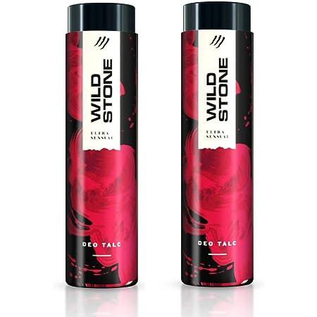 Wild Stone Ultra Sensual Talcum Powder for Men, 300gm each (Pack of 2)