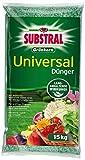 Substral Grünkorn Universaldünger, nitratfreier Langzeitdünger für Blumen, Sträucher, Koniferen, Gemüse, Obst und Rasen, 15kg