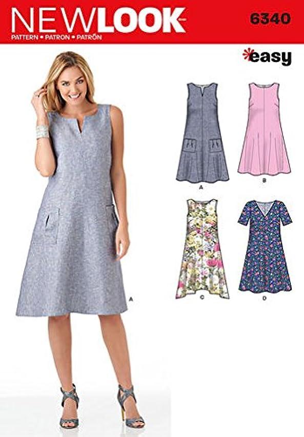 Simplicity New Look Patterns UN6340A Misses' Easy Dresses, A (8-10-12-14-16-18-20)