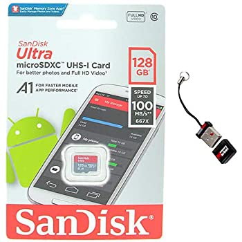 100MBs A1 U1 C10 Works with SanDisk SanDisk Ultra 128GB MicroSDXC Verified for Xiaomi Redmi Y1 by SanFlash