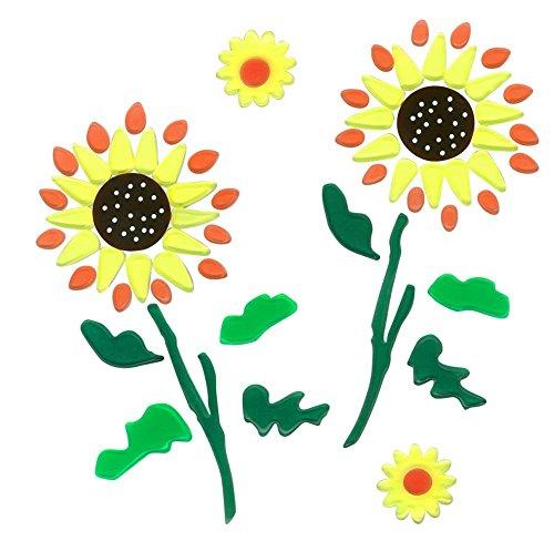 MagicGel Fensterbilder - Sonnenblumen, Fensterdeko, Spiegeldeko