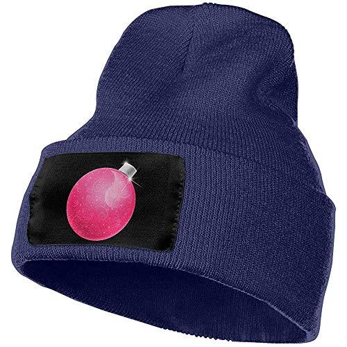 Mujeres y Hombres Dibujos Animados Bola de Navidad Rosa Invierno Cálido Gorro Sombreros Stretch Skull Ski Ski Knit Hat Cap